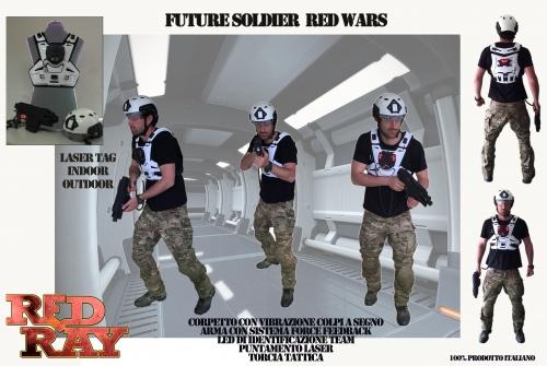 Red Ray Store -  Sistema base laser Tag Red Wars